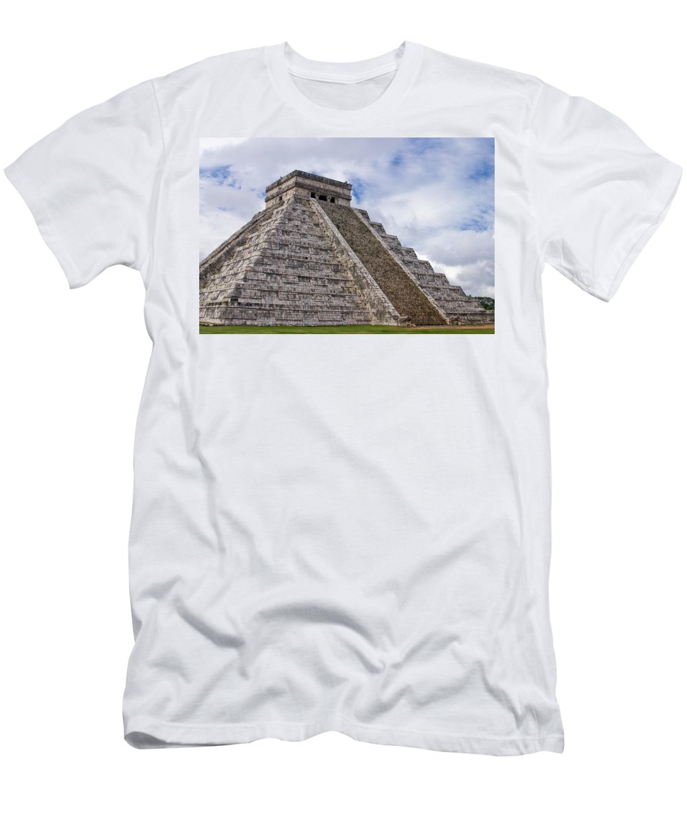 3scape Photos Men's T-Shirt (Athletic Fit) featuring the photograph El Castillo by Adam Romanowicz