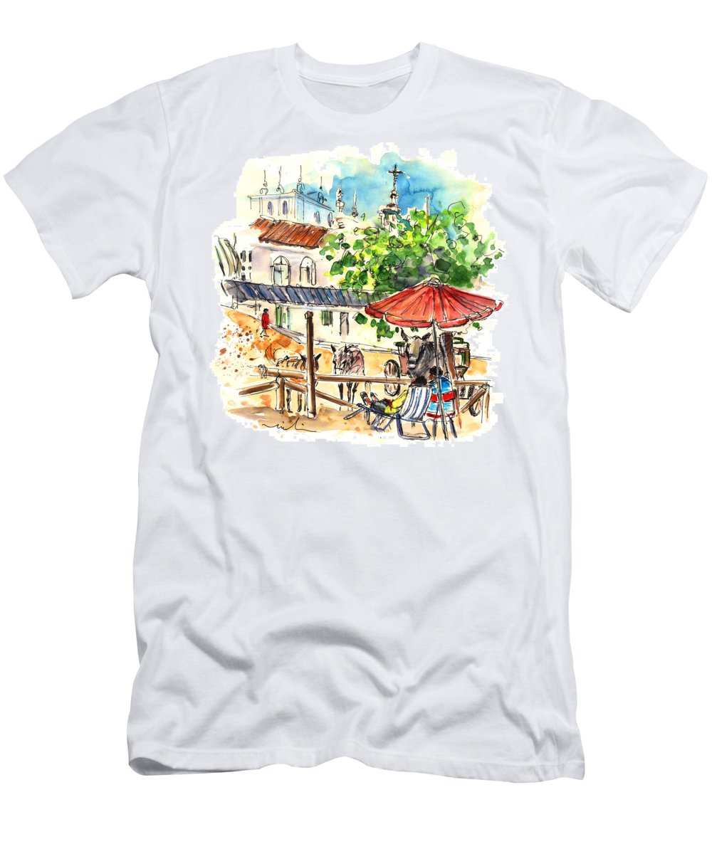 Travel Men's T-Shirt (Athletic Fit) featuring the painting El Rocio 01 by Miki De Goodaboom