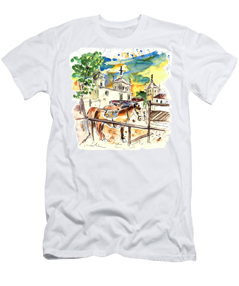 Travel Men's T-Shirt (Athletic Fit) featuring the painting El Rocio 02 by Miki De Goodaboom