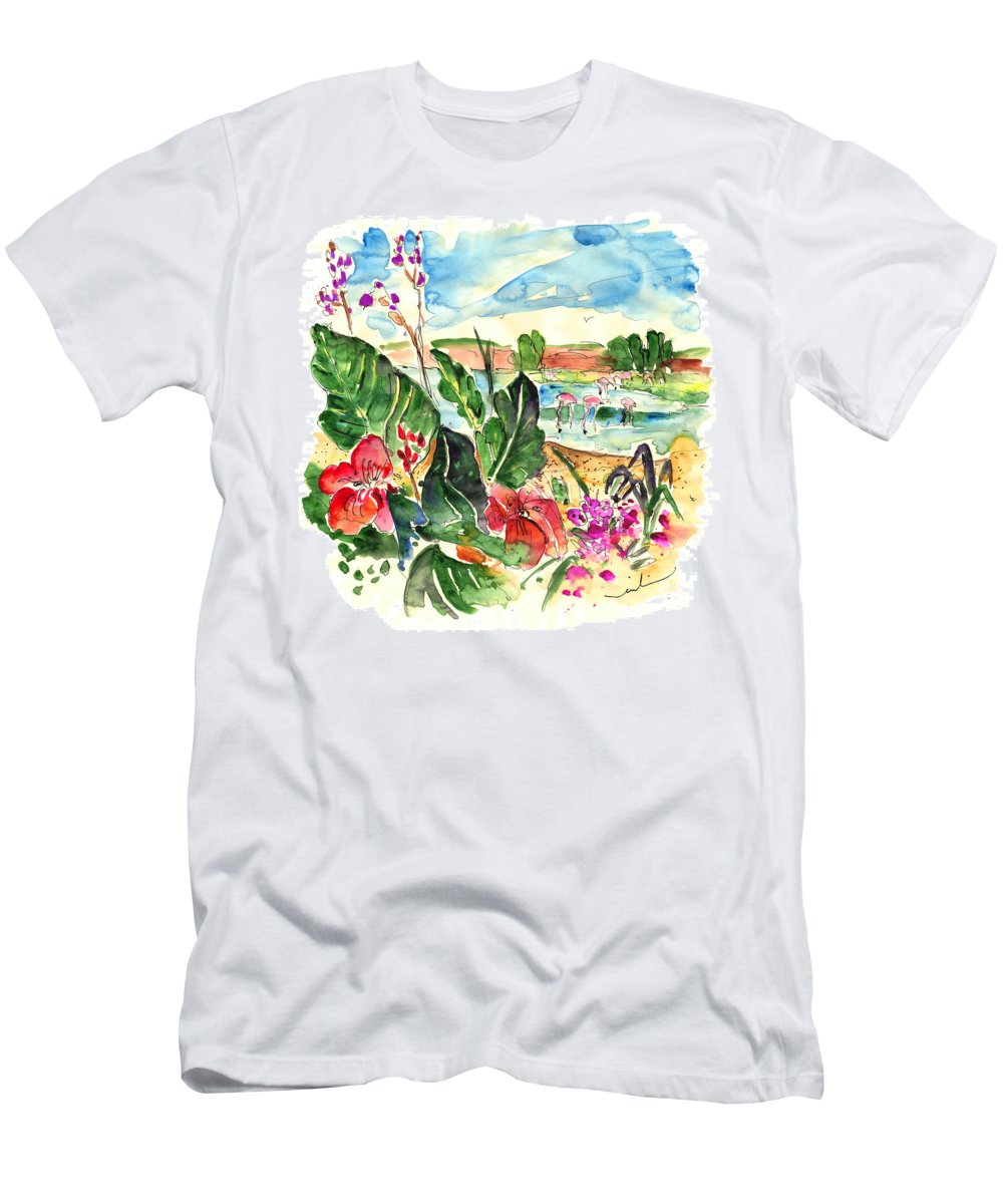 Travel Men's T-Shirt (Athletic Fit) featuring the painting El Rocio 06 by Miki De Goodaboom