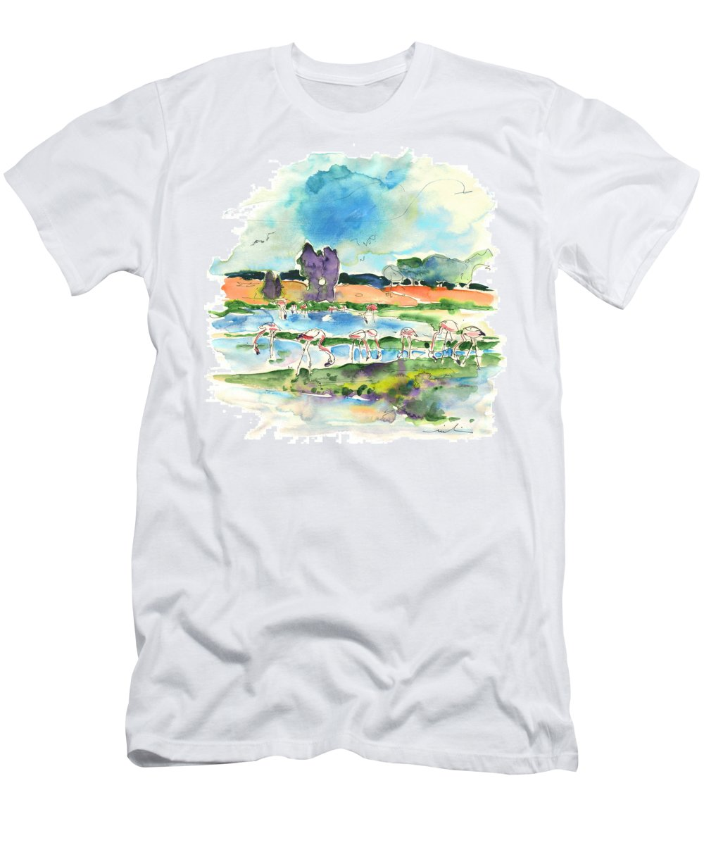 Travel Men's T-Shirt (Athletic Fit) featuring the painting El Rocio 08 by Miki De Goodaboom