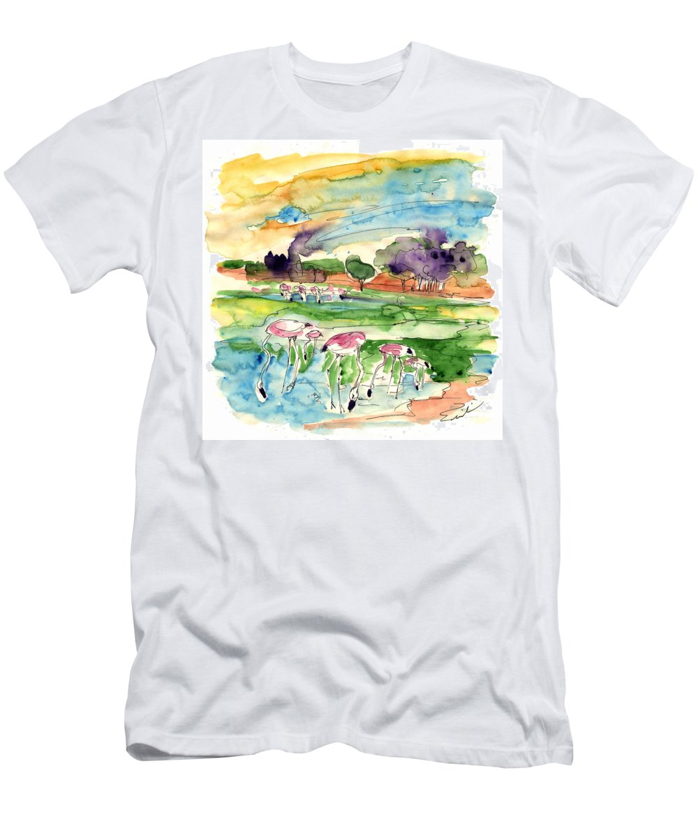 Travel Men's T-Shirt (Athletic Fit) featuring the painting El Rocio 09 by Miki De Goodaboom