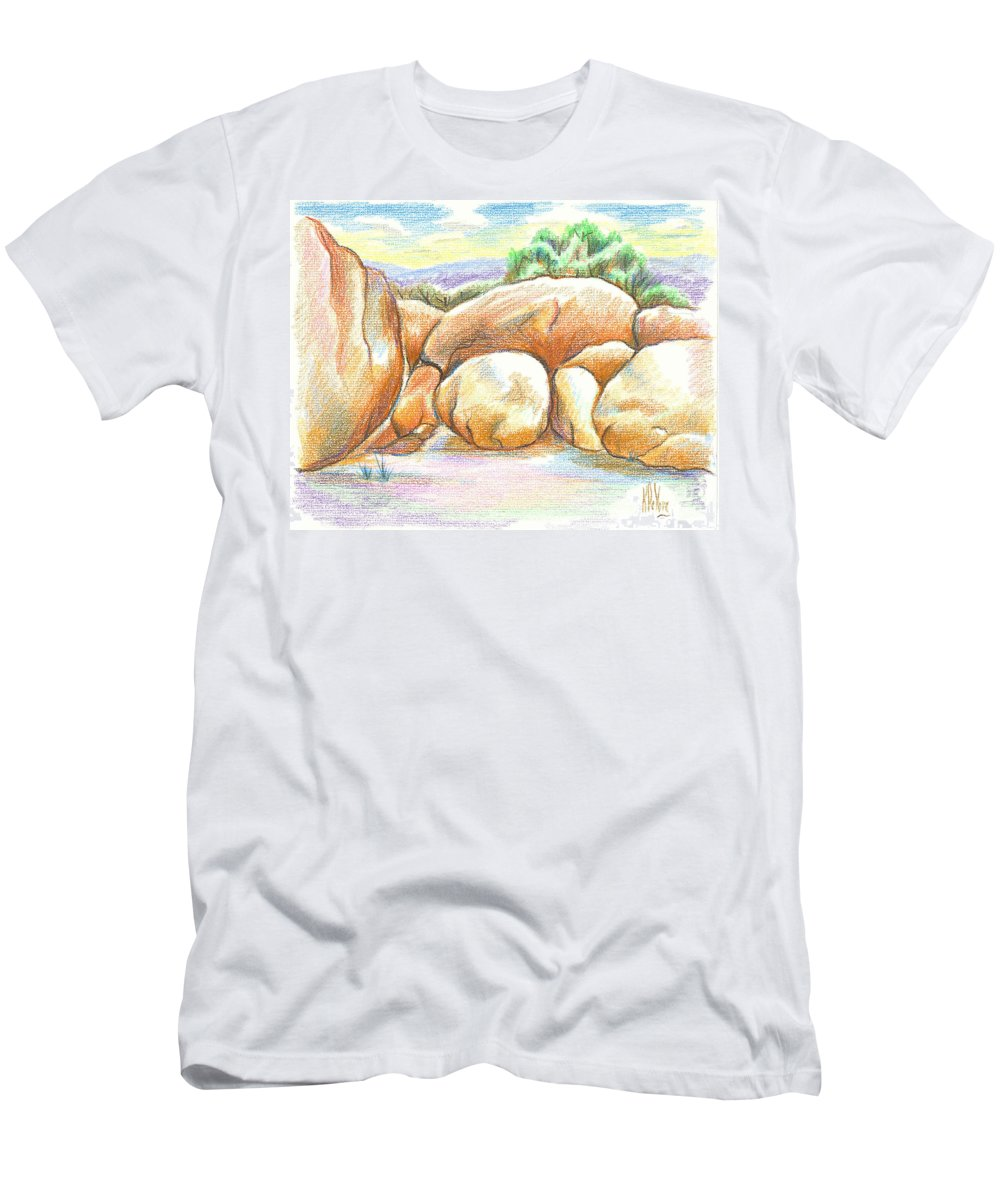 Elephant Rocks State Park Ii No C103 Men's T-Shirt (Athletic Fit) featuring the painting Elephant Rocks State Park II No C103 by Kip DeVore