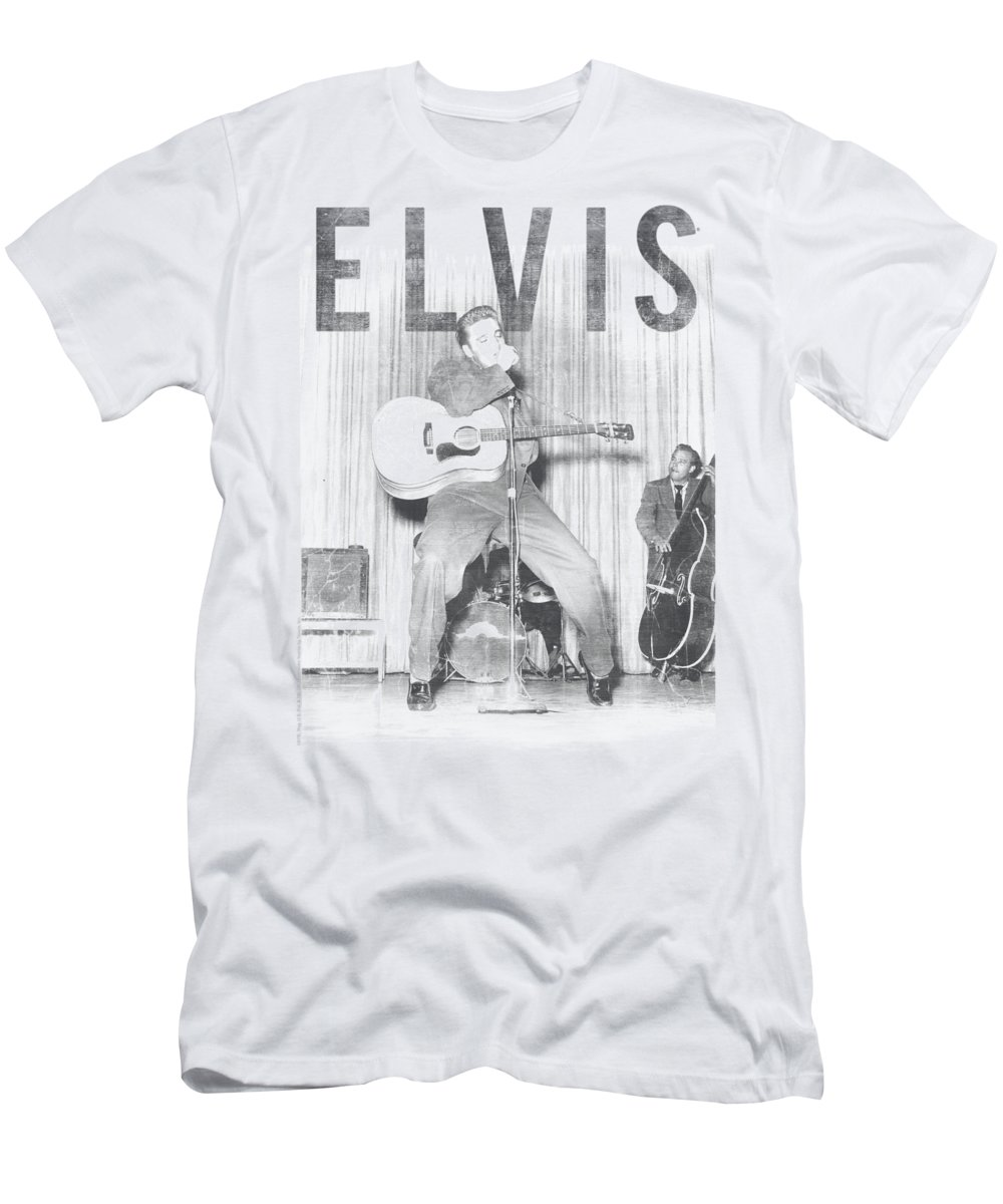 Elvis T-Shirt featuring the digital art Elvis - With The Band by Brand A