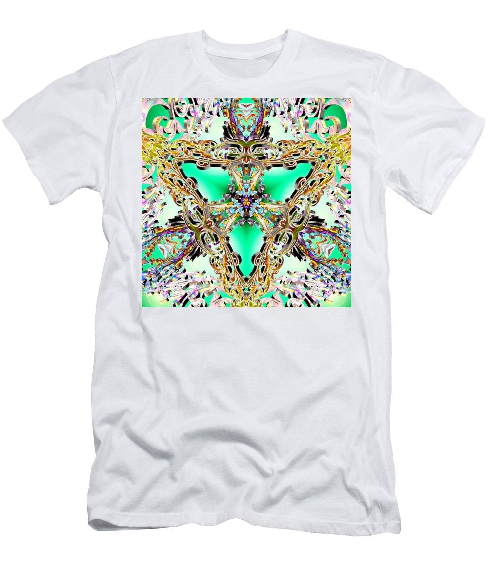Sacredlife Mandalas Men's T-Shirt (Athletic Fit) featuring the digital art Emerald Key by Derek Gedney