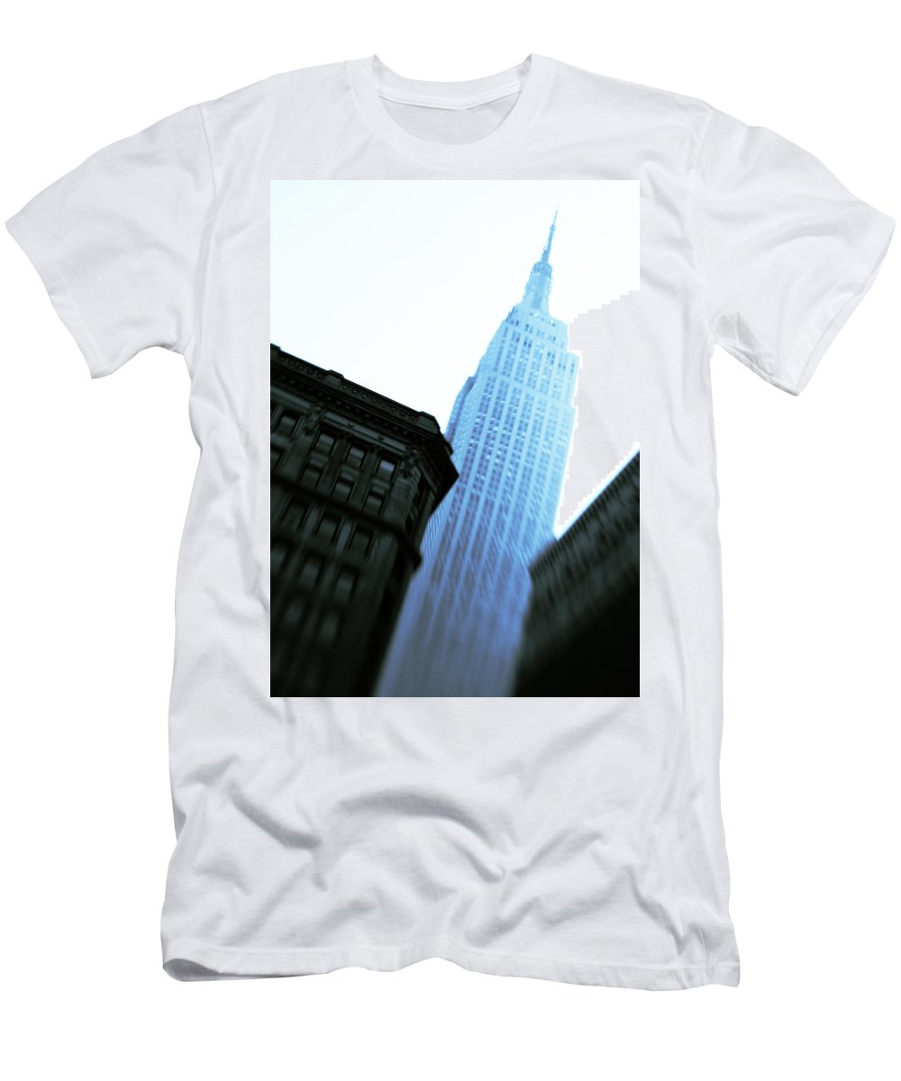 Empire State Building Men's T-Shirt (Athletic Fit) featuring the photograph Empire State Building by Dave Bowman