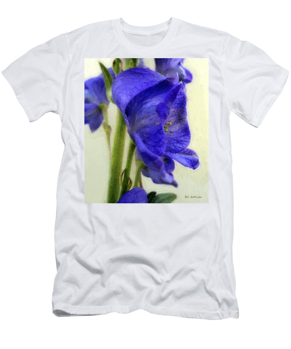Floral Men's T-Shirt (Athletic Fit) featuring the painting Empress Of The Blues by RC DeWinter