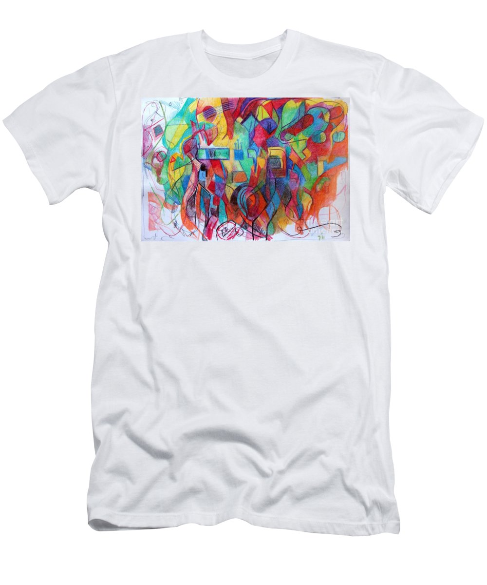 Torah Men's T-Shirt (Athletic Fit) featuring the drawing Emunah 21 by David Baruch Wolk