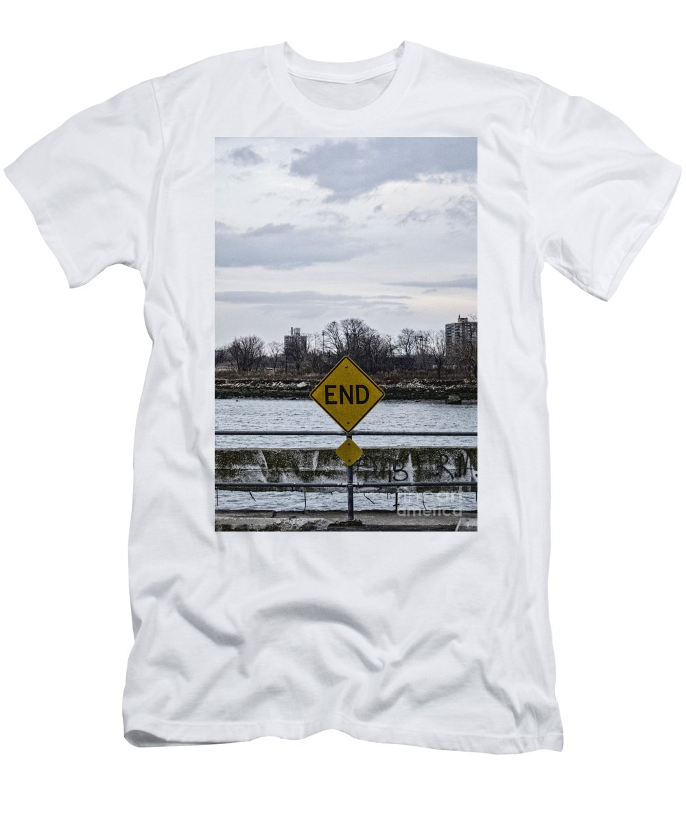 Trees Men's T-Shirt (Athletic Fit) featuring the photograph End by Margie Hurwich