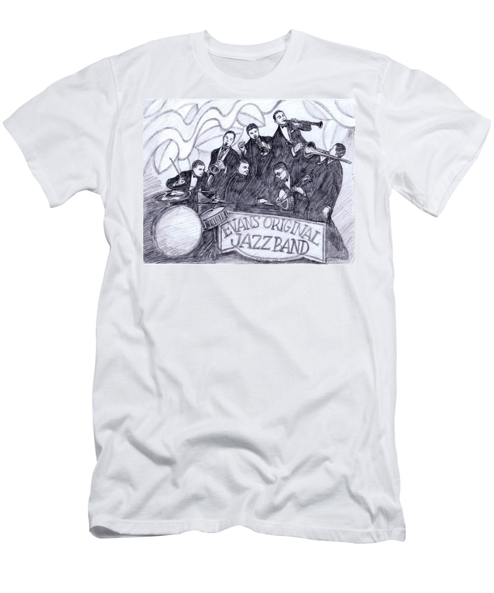 Nostalgia Men's T-Shirt (Athletic Fit) featuring the drawing Evans Original by Mel Thompson