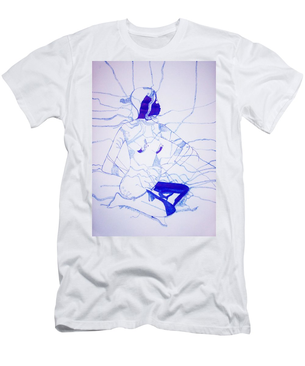 Jesus Men's T-Shirt (Athletic Fit) featuring the drawing Expecting by Gloria Ssali