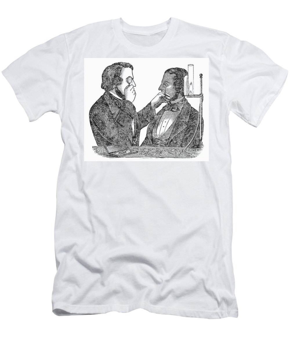 1840 Men's T-Shirt (Athletic Fit) featuring the photograph Eye Doctor, C1840 by Granger