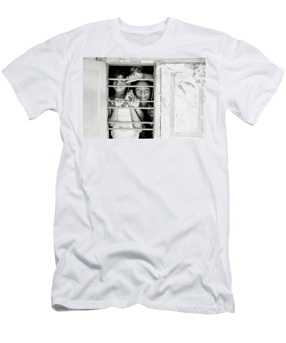 India Men's T-Shirt (Athletic Fit) featuring the photograph Faces At The Window by Shaun Higson