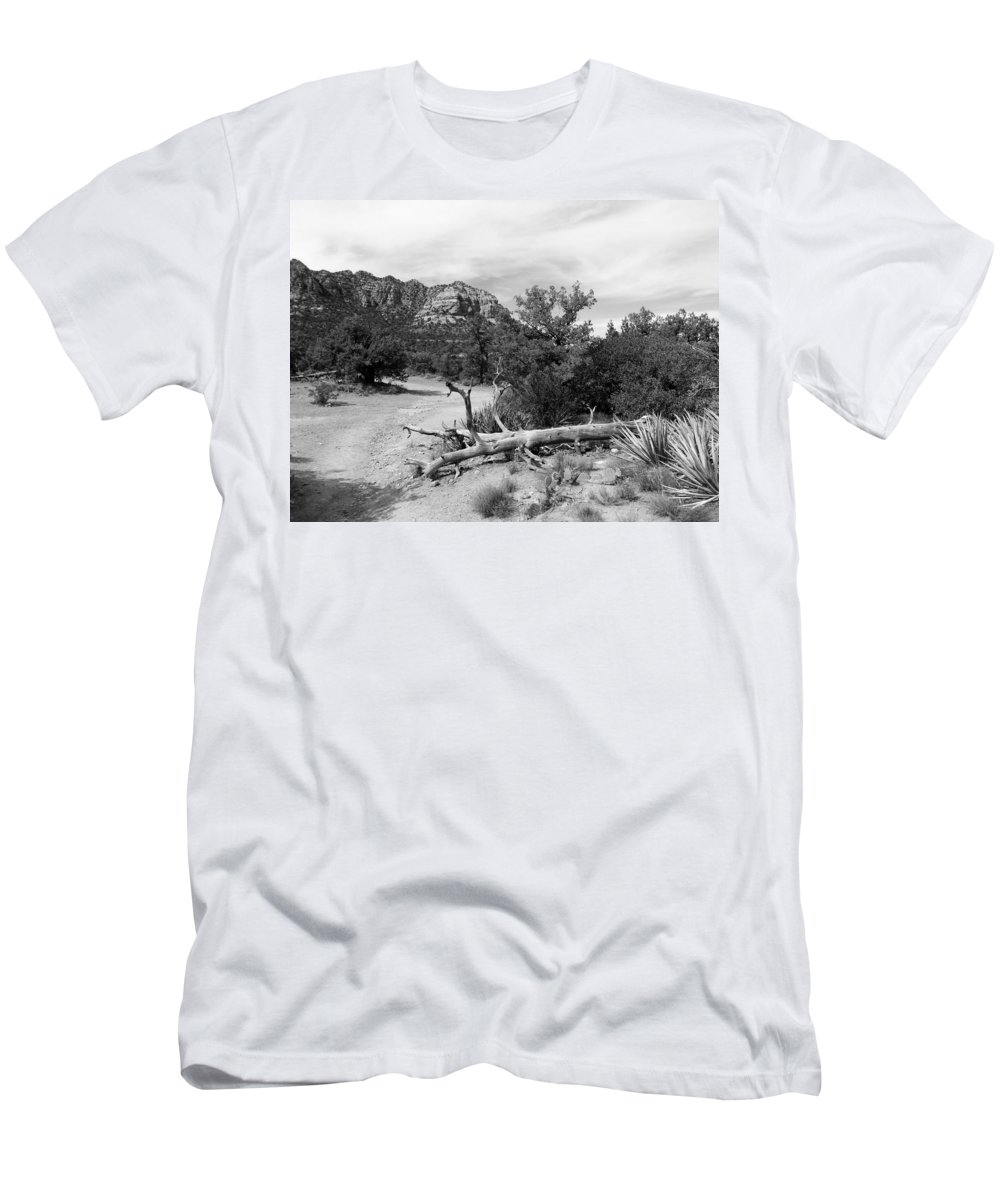 Arizona Men's T-Shirt (Athletic Fit) featuring the photograph Fallen Tree by Two Bridges North