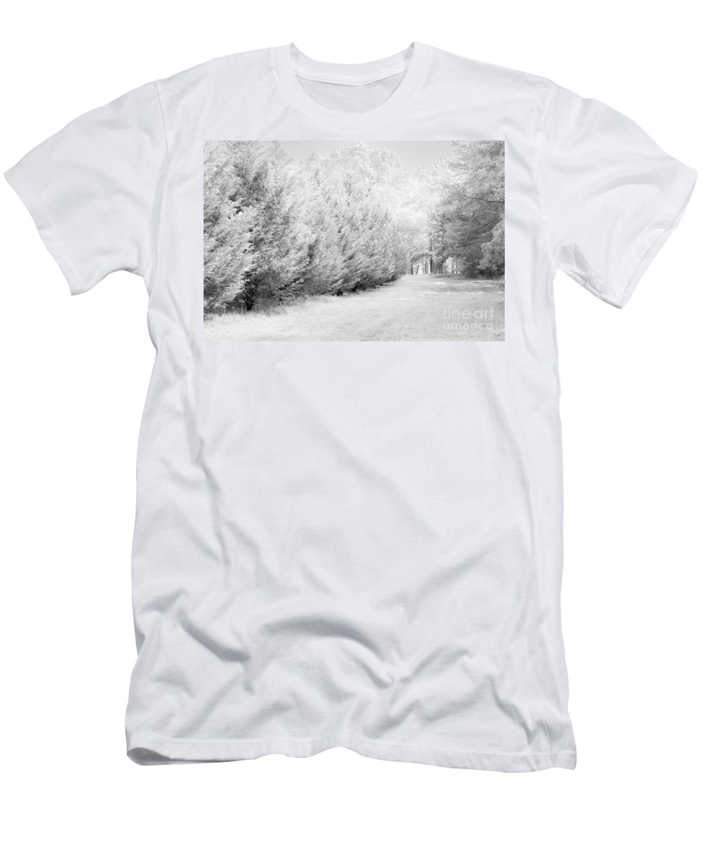 Fence Men's T-Shirt (Athletic Fit) featuring the photograph Fence by Carolina Mendez