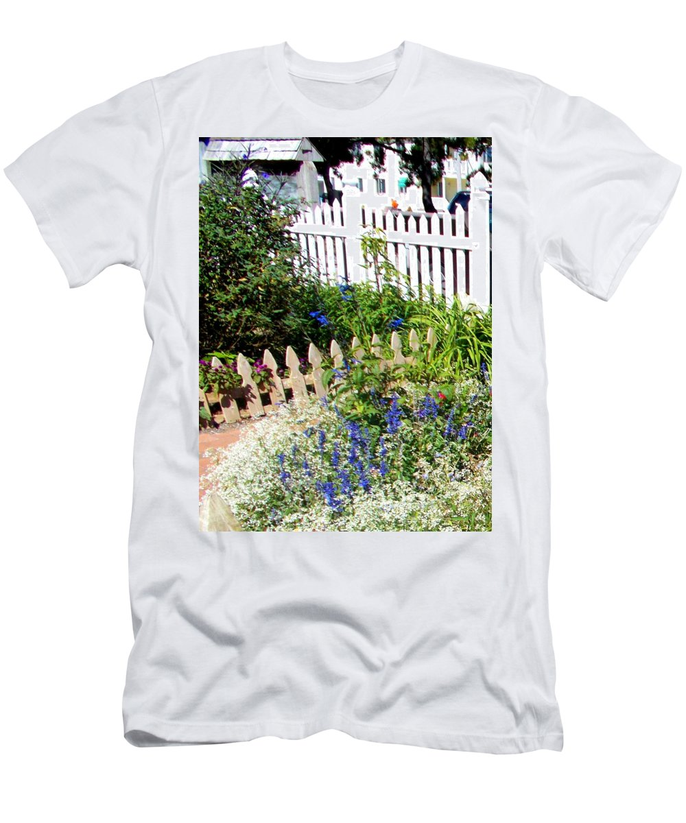 Fence Men's T-Shirt (Athletic Fit) featuring the photograph Fenced In by Pamela Hyde Wilson