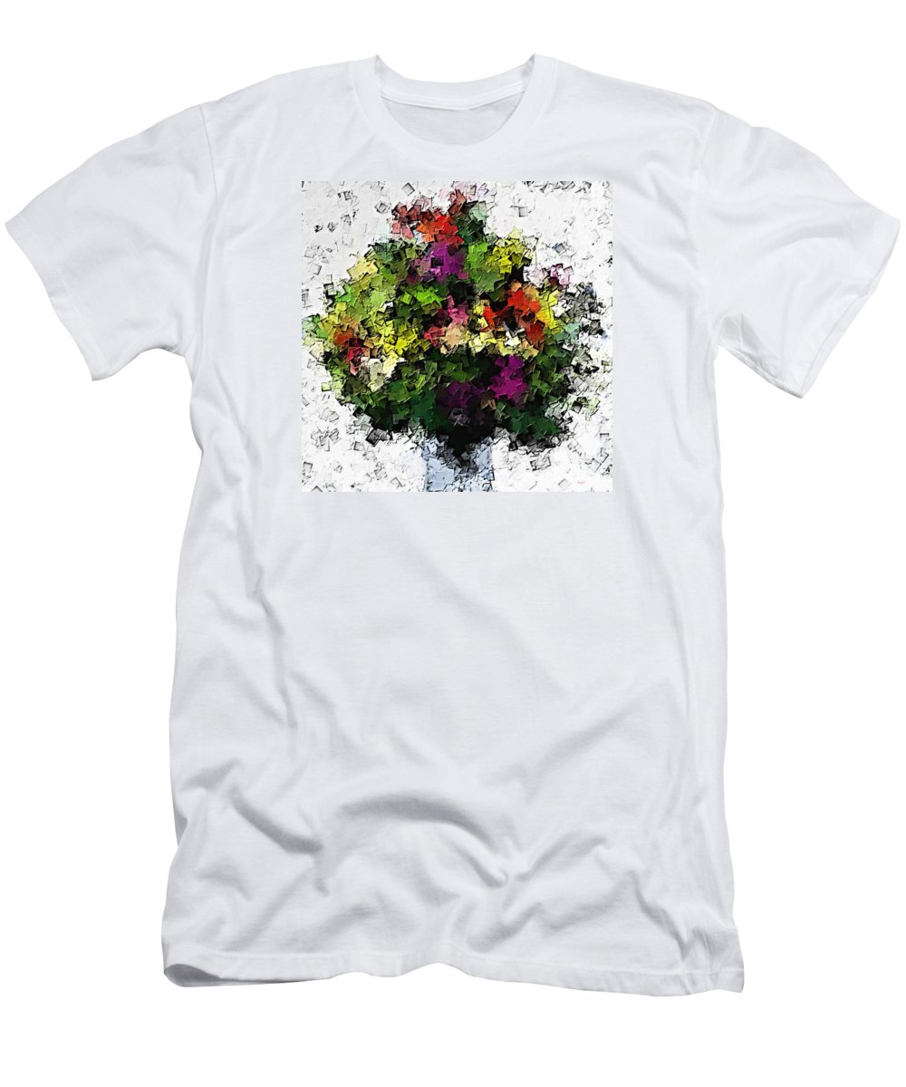 Abstract Men's T-Shirt (Athletic Fit) featuring the painting Floral A3 by Sergio B