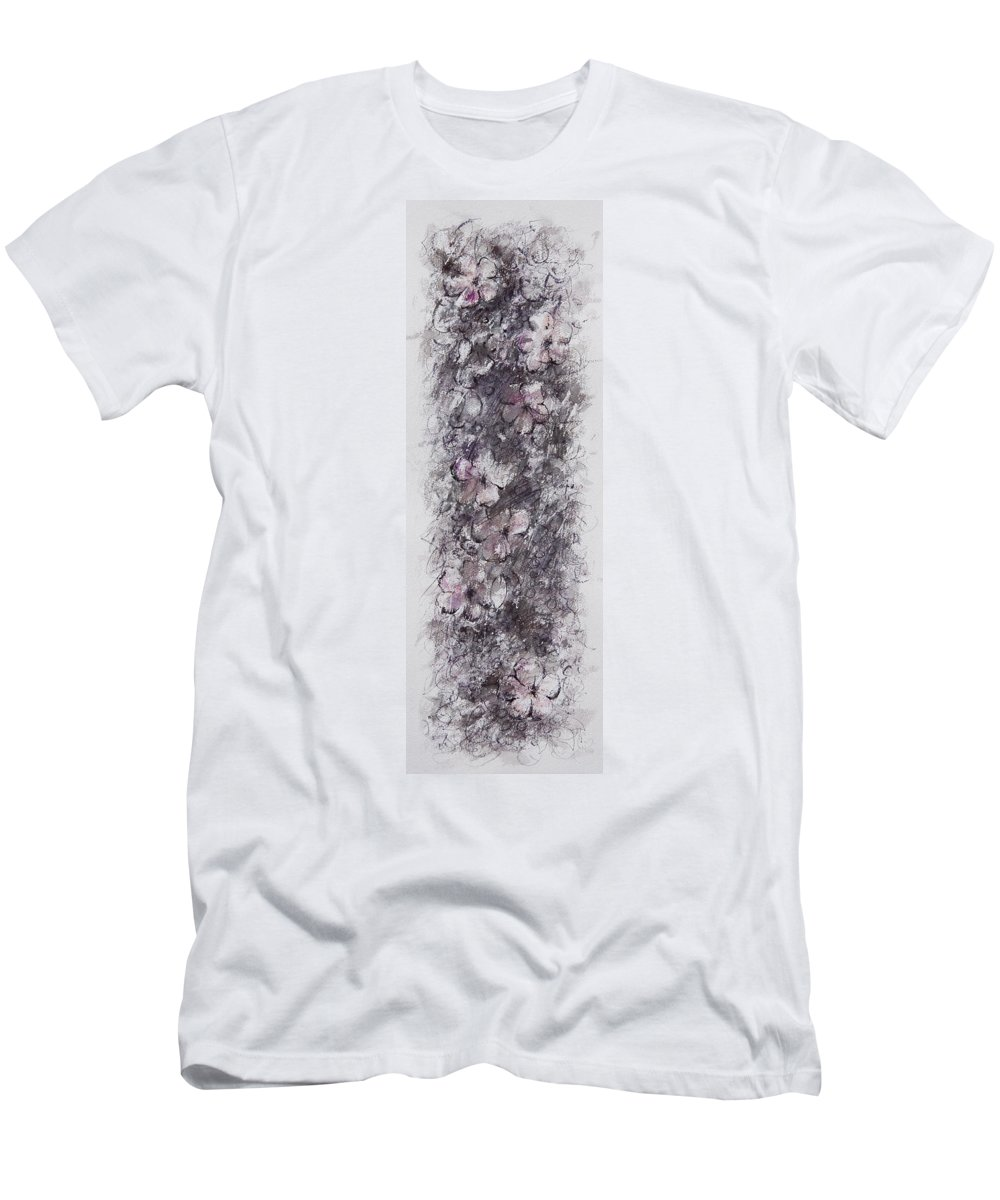 Floral T-Shirt featuring the painting floral cascade II by William Russell Nowicki