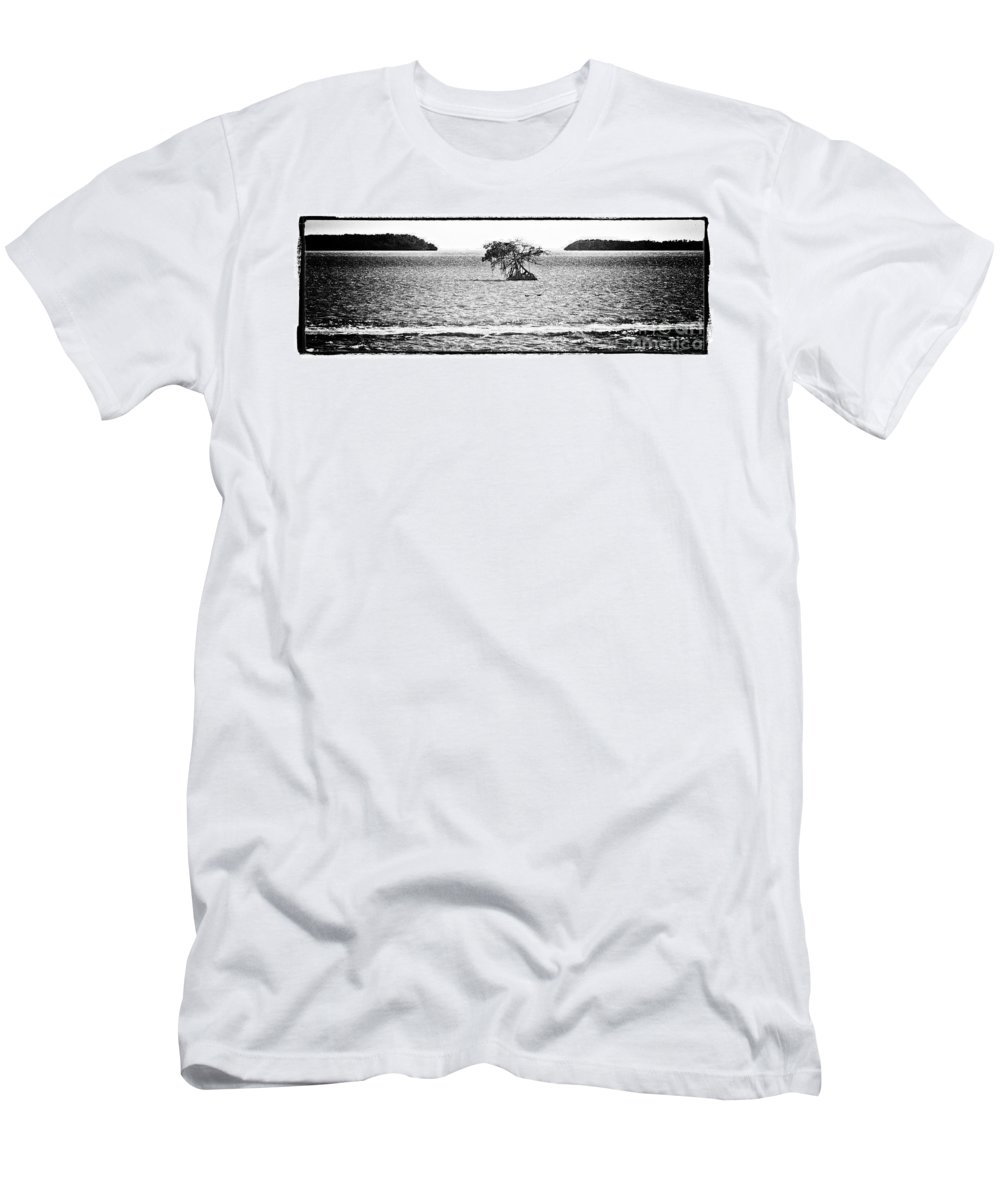 Ocean Men's T-Shirt (Athletic Fit) featuring the photograph Florida Bay by Bruce Bain