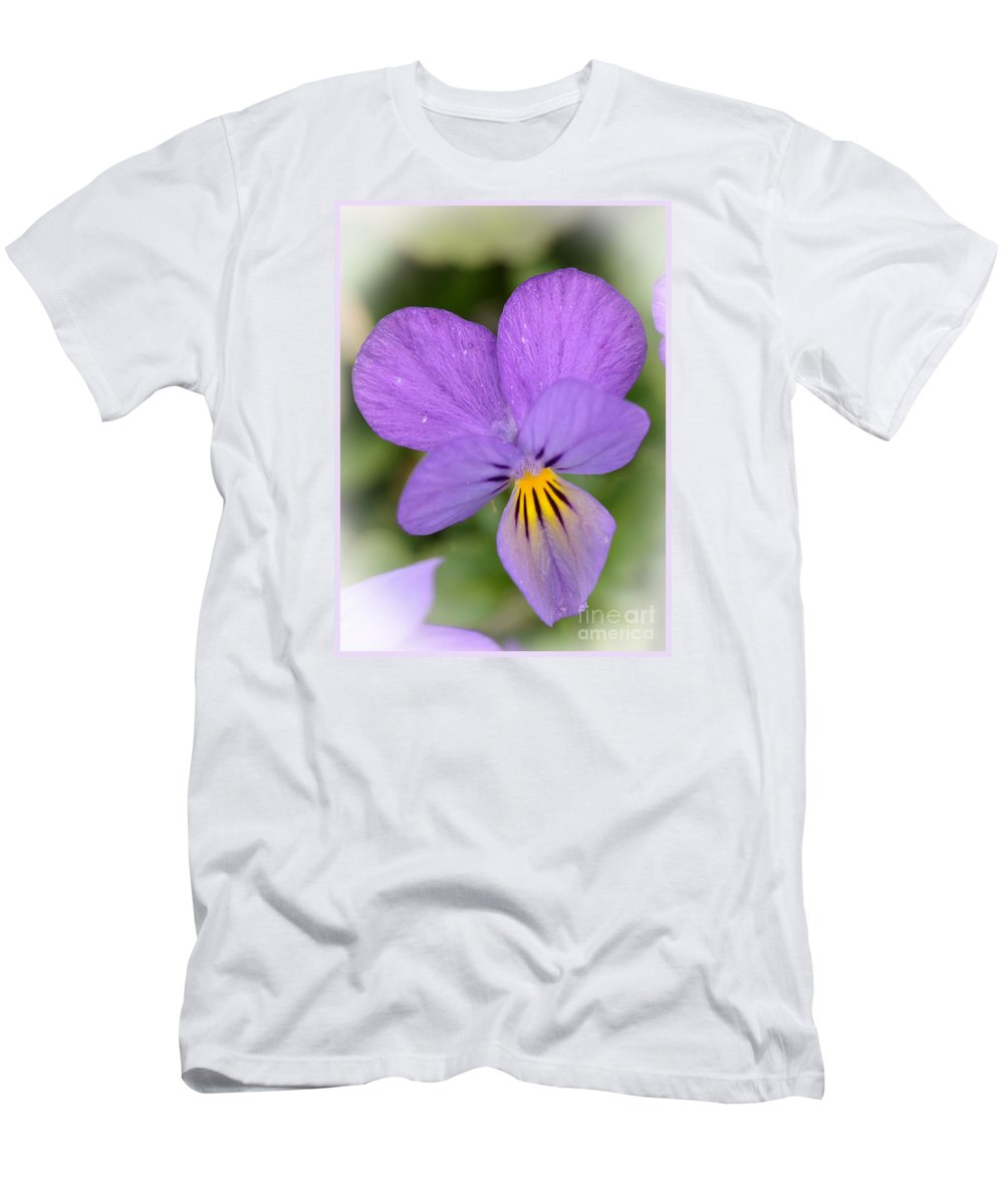 Flowers Men's T-Shirt (Athletic Fit) featuring the photograph Flowers That Smile by Kerri Farley