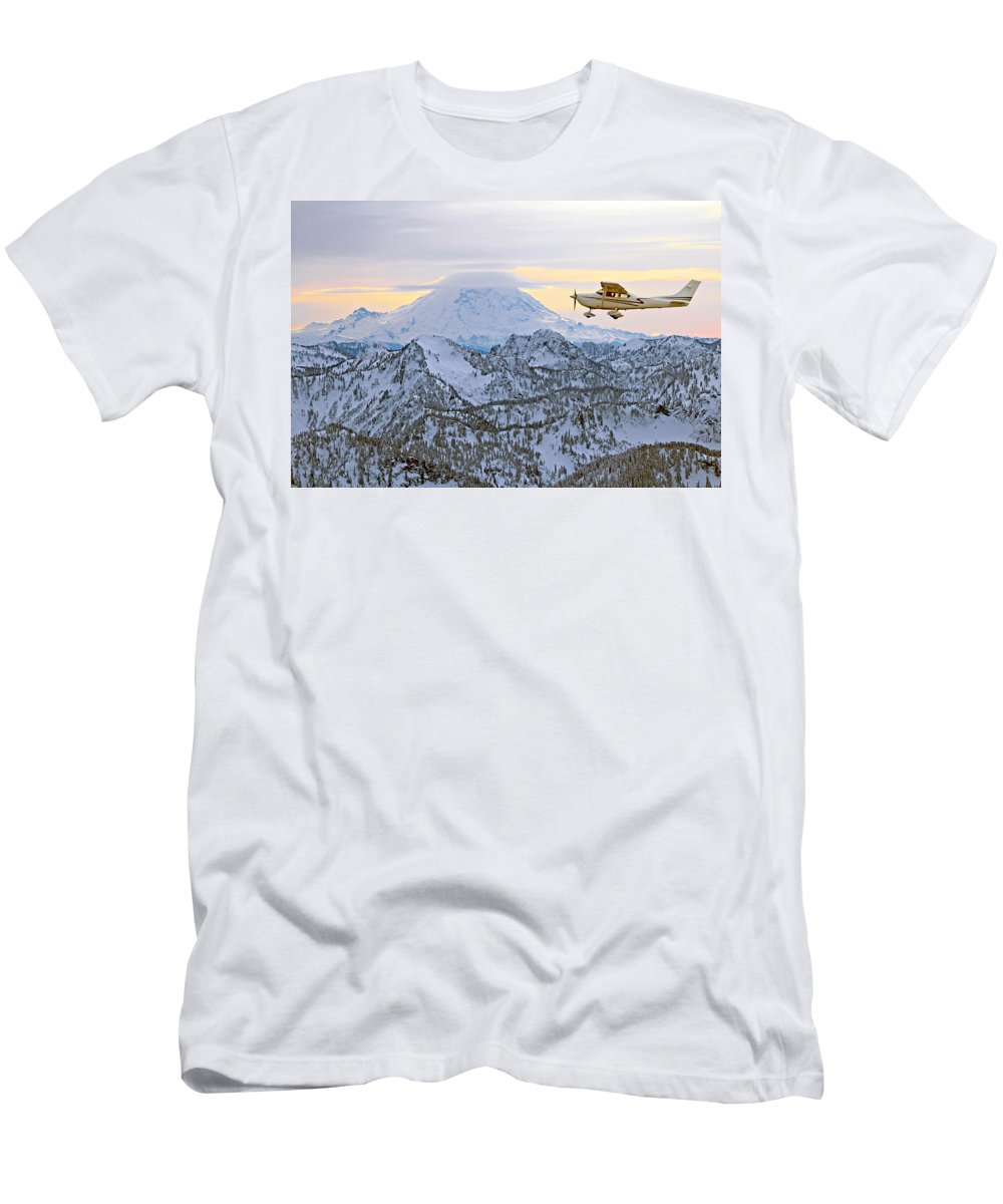 Outdoor Men's T-Shirt (Athletic Fit) featuring the photograph Flying by Paul Fell