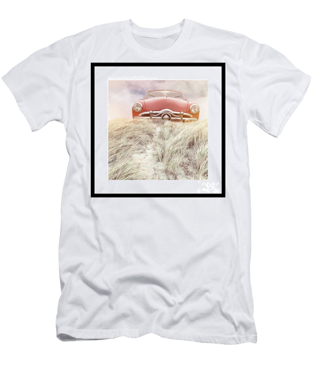 Red Men's T-Shirt (Athletic Fit) featuring the photograph Follow Your Dreams Signed Mini by Edward Fielding