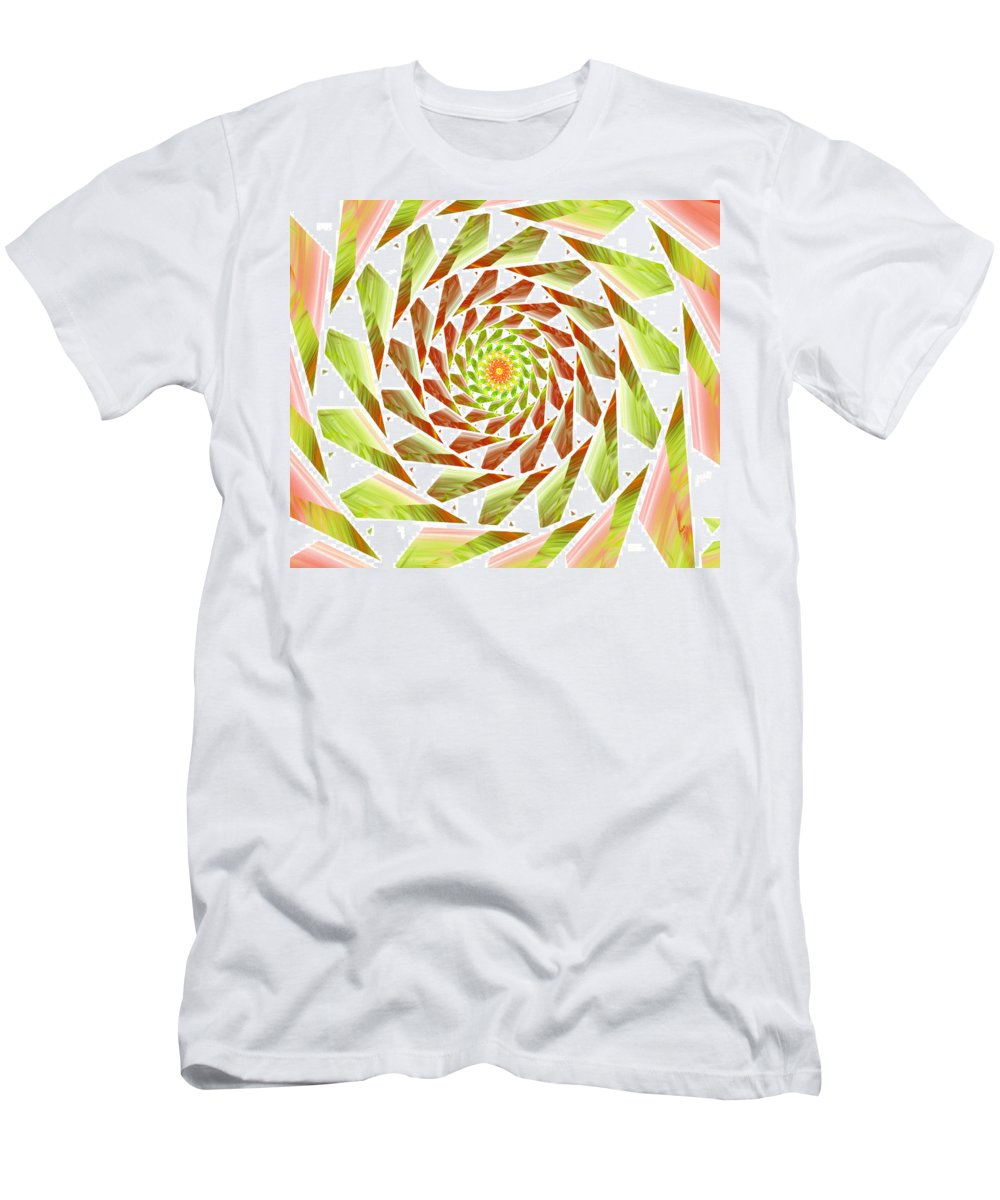 Spiral Digital Art Men's T-Shirt (Athletic Fit) featuring the digital art Abstract Swirls by Ester Rogers