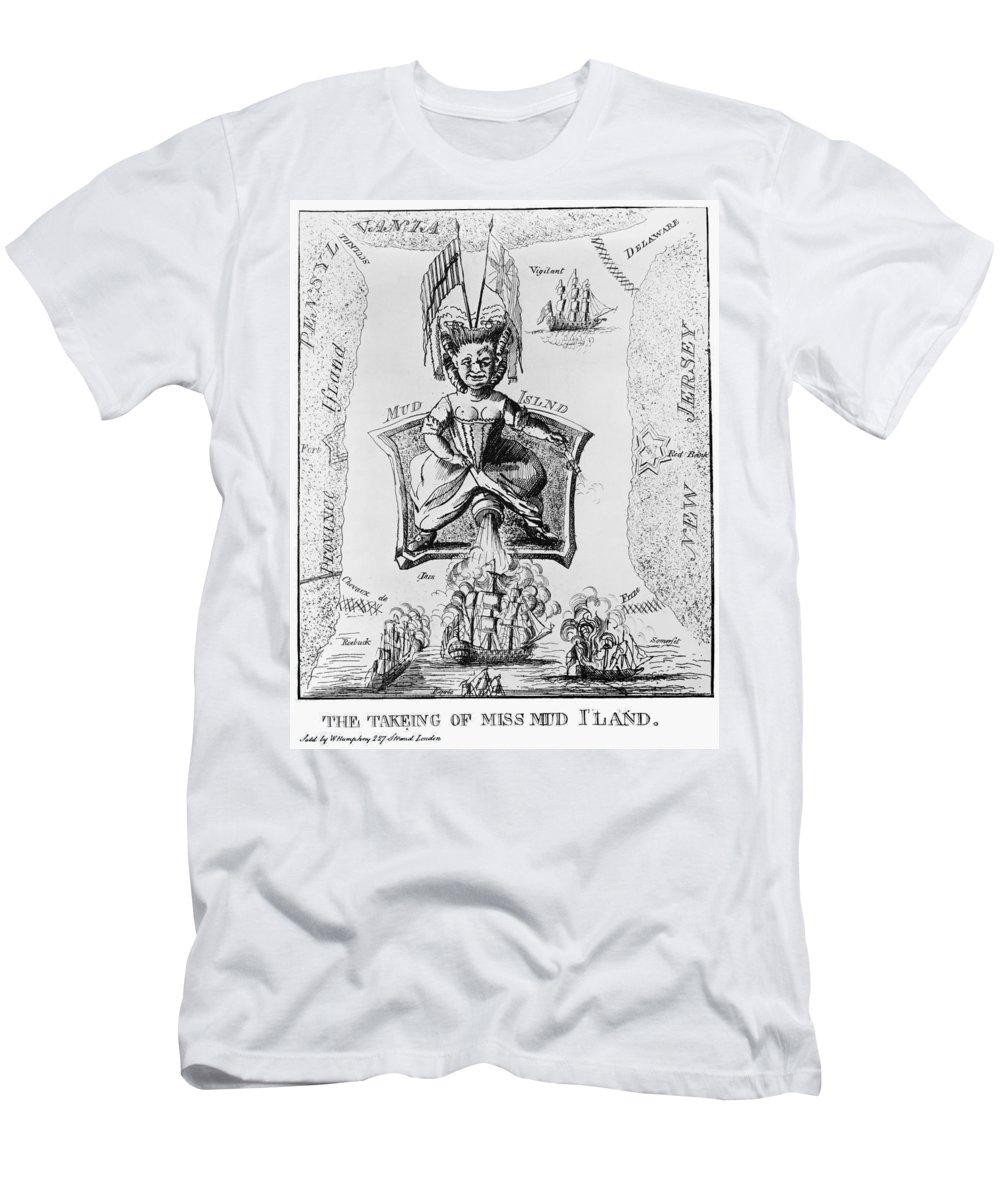 1777 Men's T-Shirt (Athletic Fit) featuring the photograph Fort Mifflin, 1777 by Granger