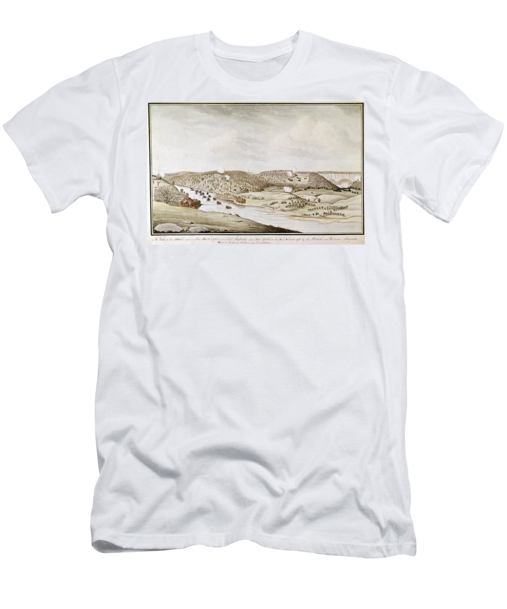 1776 Men's T-Shirt (Athletic Fit) featuring the photograph Fort Washington, 1776 by Granger