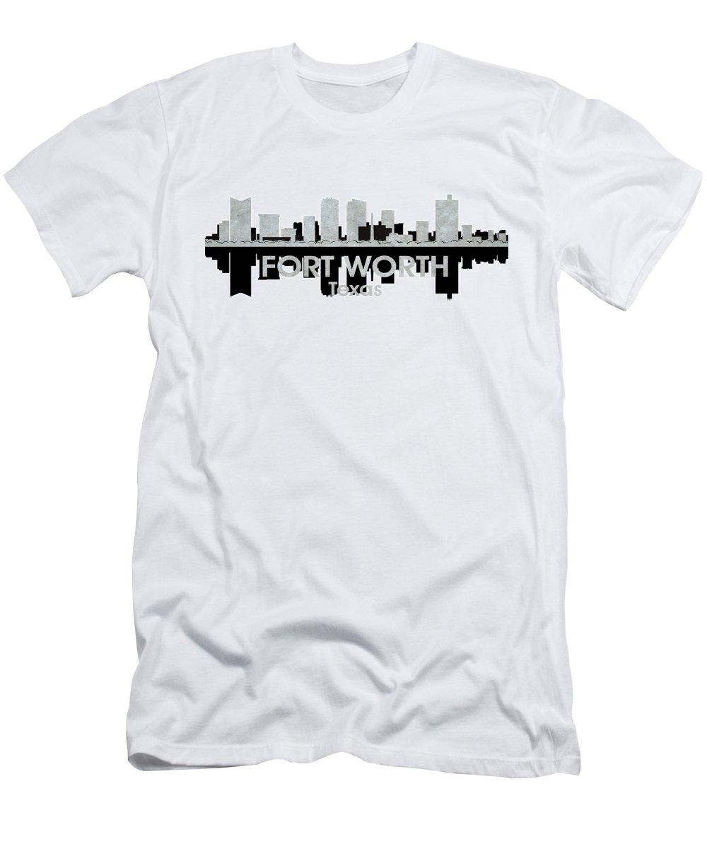 Fort Worth Men's T-Shirt (Athletic Fit) featuring the mixed media Fort Worth Tx 4 by Angelina Vick