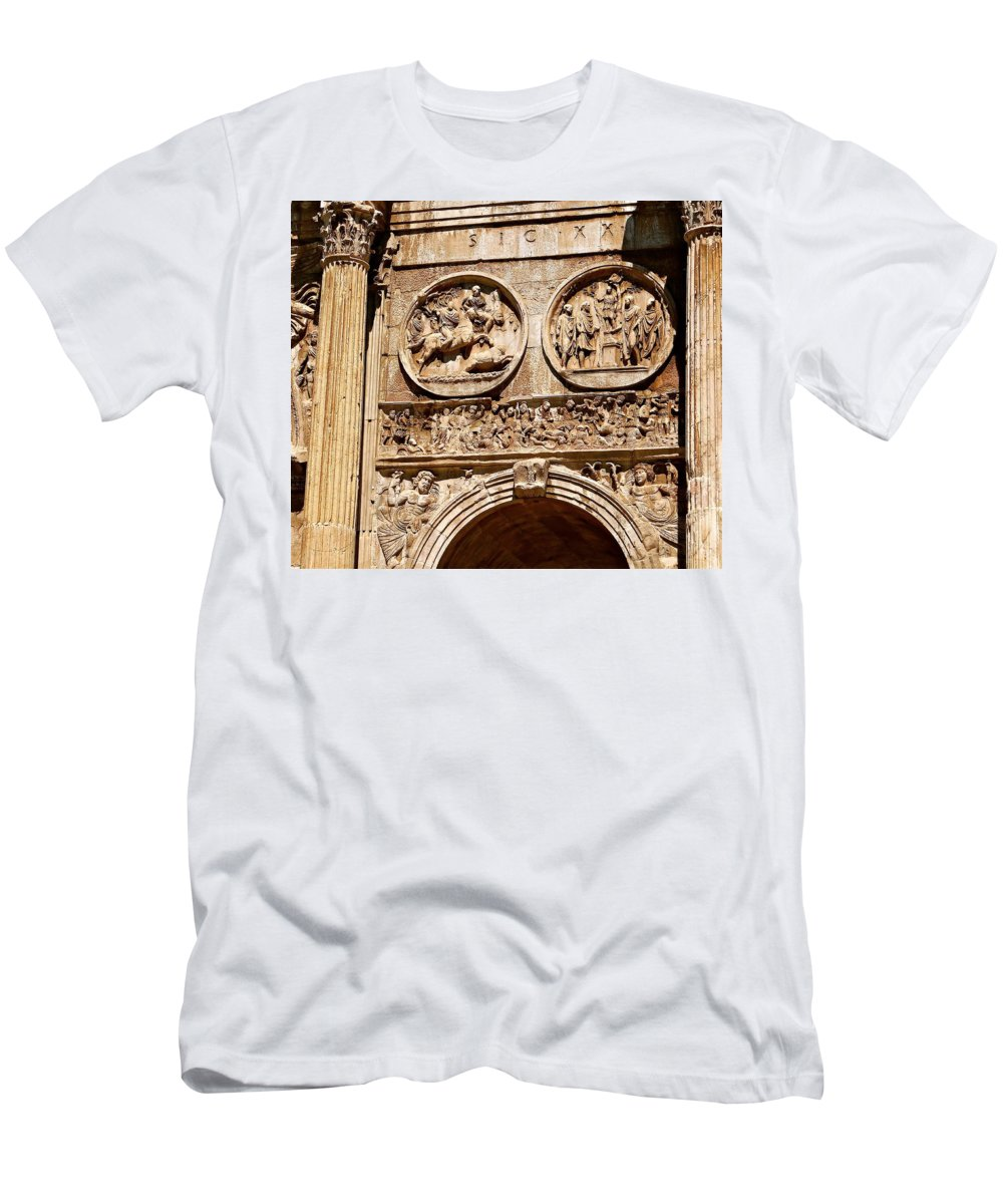 Arch Of Constantine Men's T-Shirt (Athletic Fit) featuring the photograph Fragments by Ira Shander