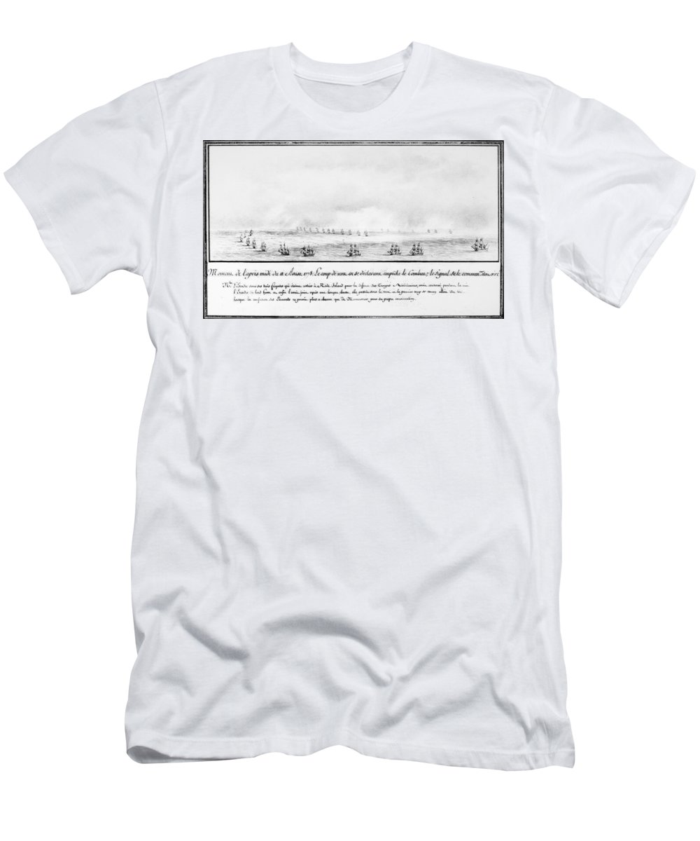 1778 Men's T-Shirt (Athletic Fit) featuring the photograph French Squadron, 1778 by Granger