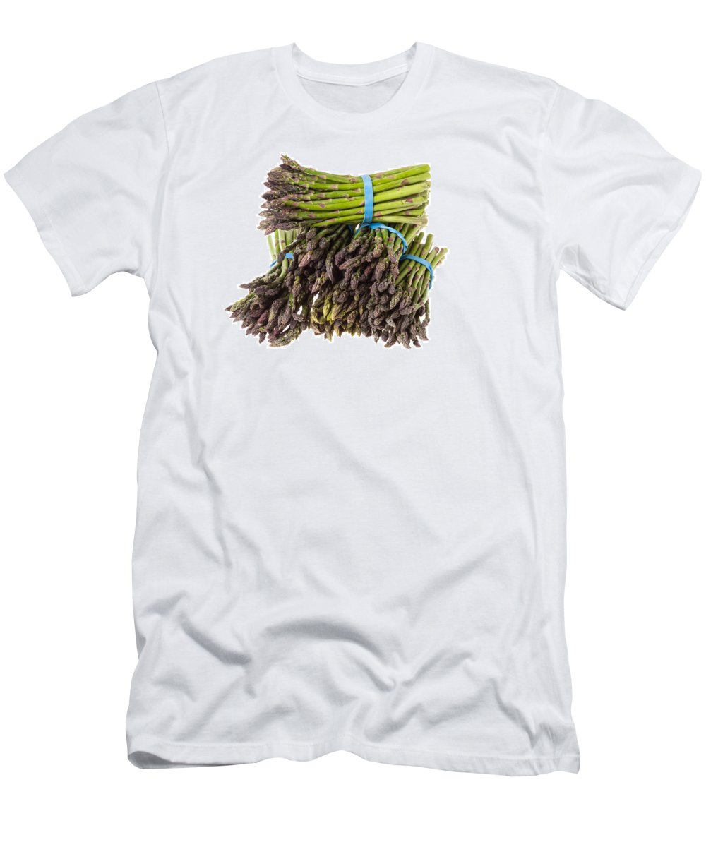 Agriculture Men's T-Shirt (Athletic Fit) featuring the photograph Fresh Asparagus by John Trax