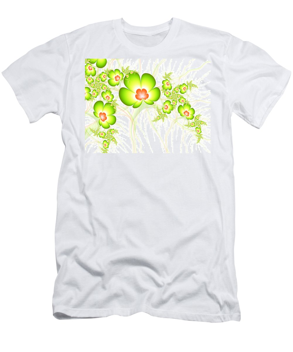 Digital Art Men's T-Shirt (Athletic Fit) featuring the digital art Fresh Green by Gabiw Art