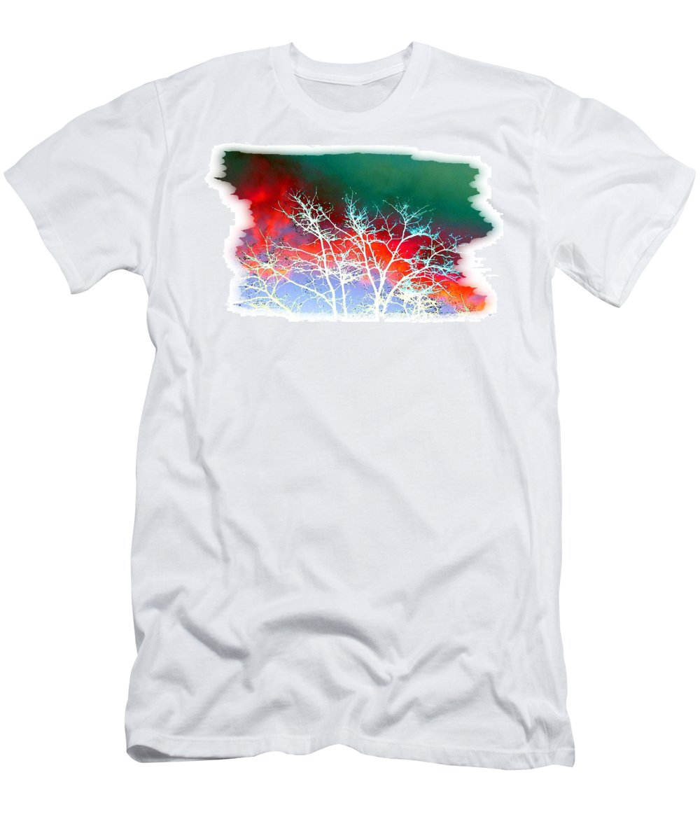 Frost Shrouded Tree Men's T-Shirt (Athletic Fit) featuring the digital art Frost Shrouded Tree by Will Borden