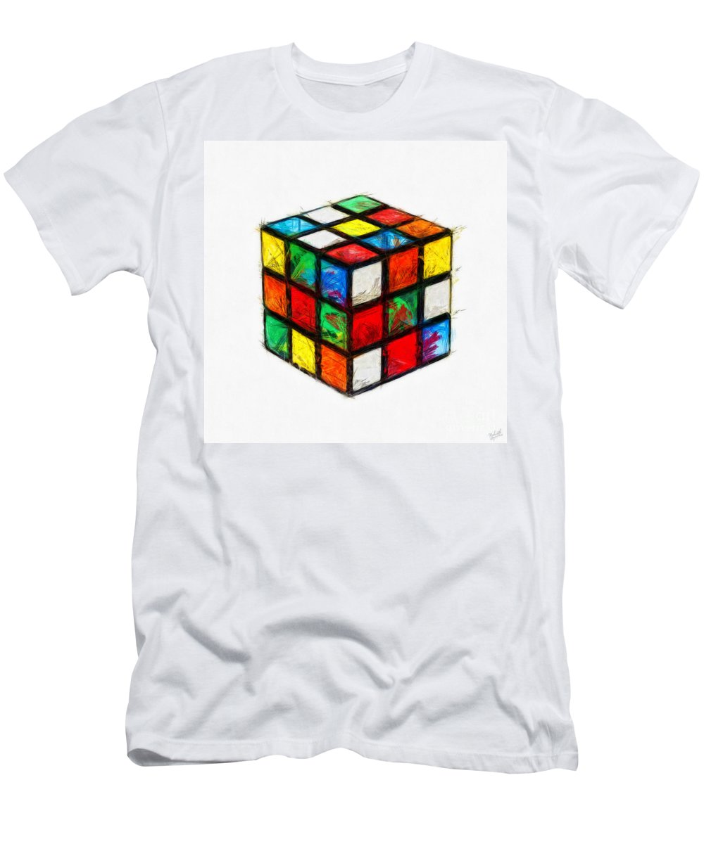 Rubiks Men's T-Shirt (Athletic Fit) featuring the digital art Fun Times by Nishanth Gopinathan