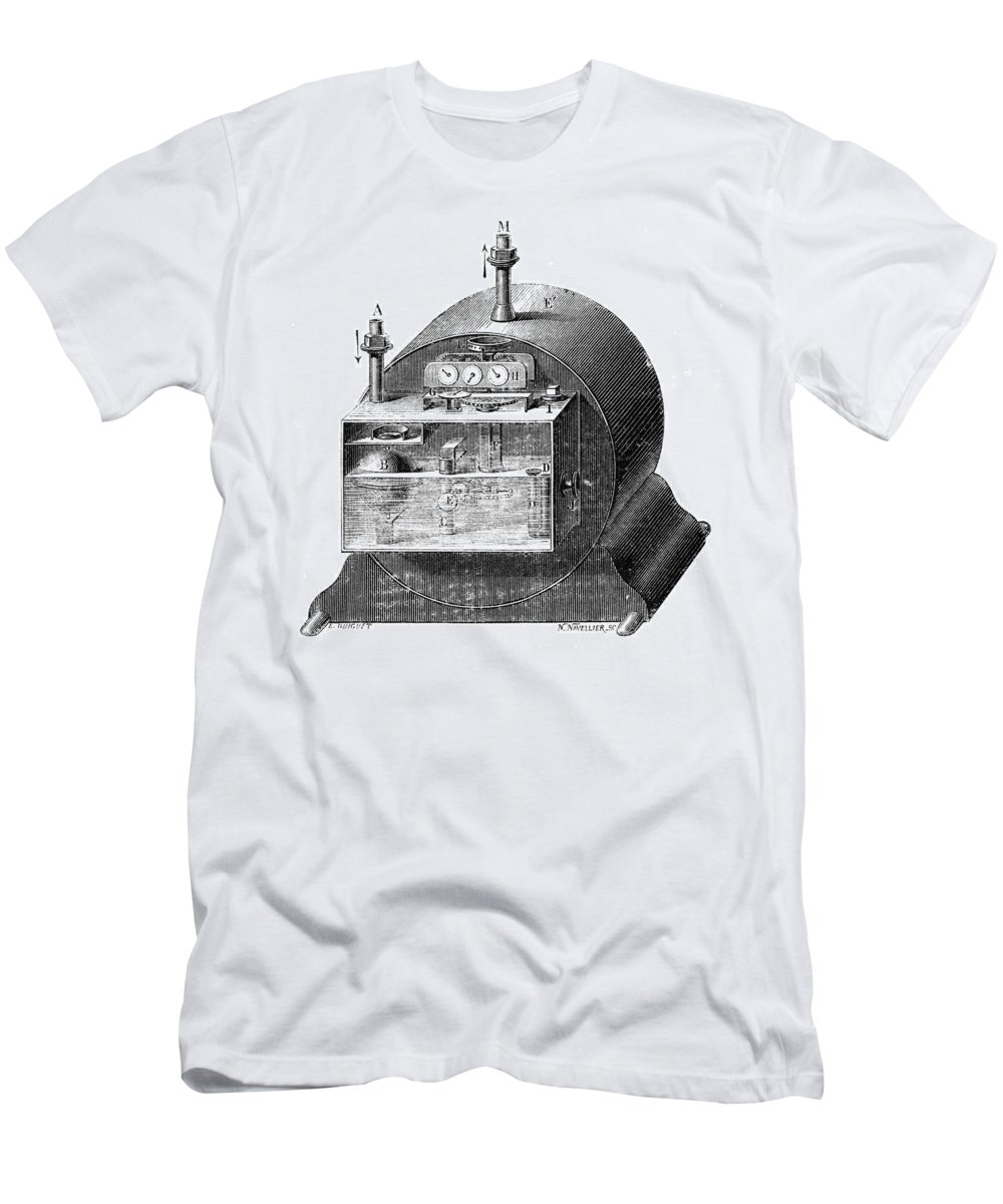 19th Century Men's T-Shirt (Athletic Fit) featuring the photograph Gas Meter by Granger
