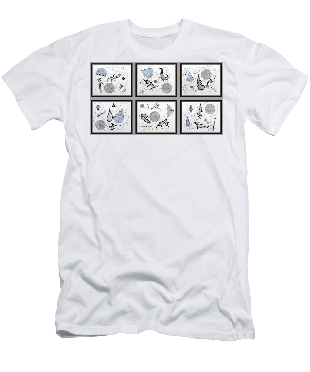 Mix Media Men's T-Shirt (Athletic Fit) featuring the mixed media Gem-tle by Sumit Mehndiratta