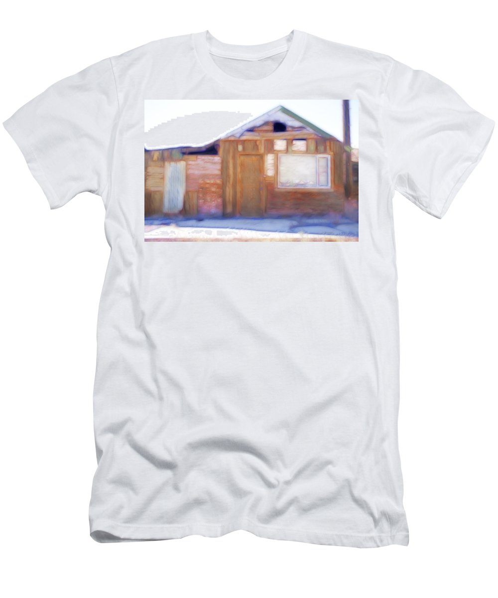 Red Men's T-Shirt (Athletic Fit) featuring the photograph Geometrics by Hugh Smith