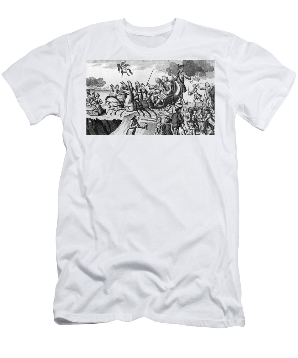 1775 Men's T-Shirt (Athletic Fit) featuring the photograph George IIi Cartoon, 1775 by Granger