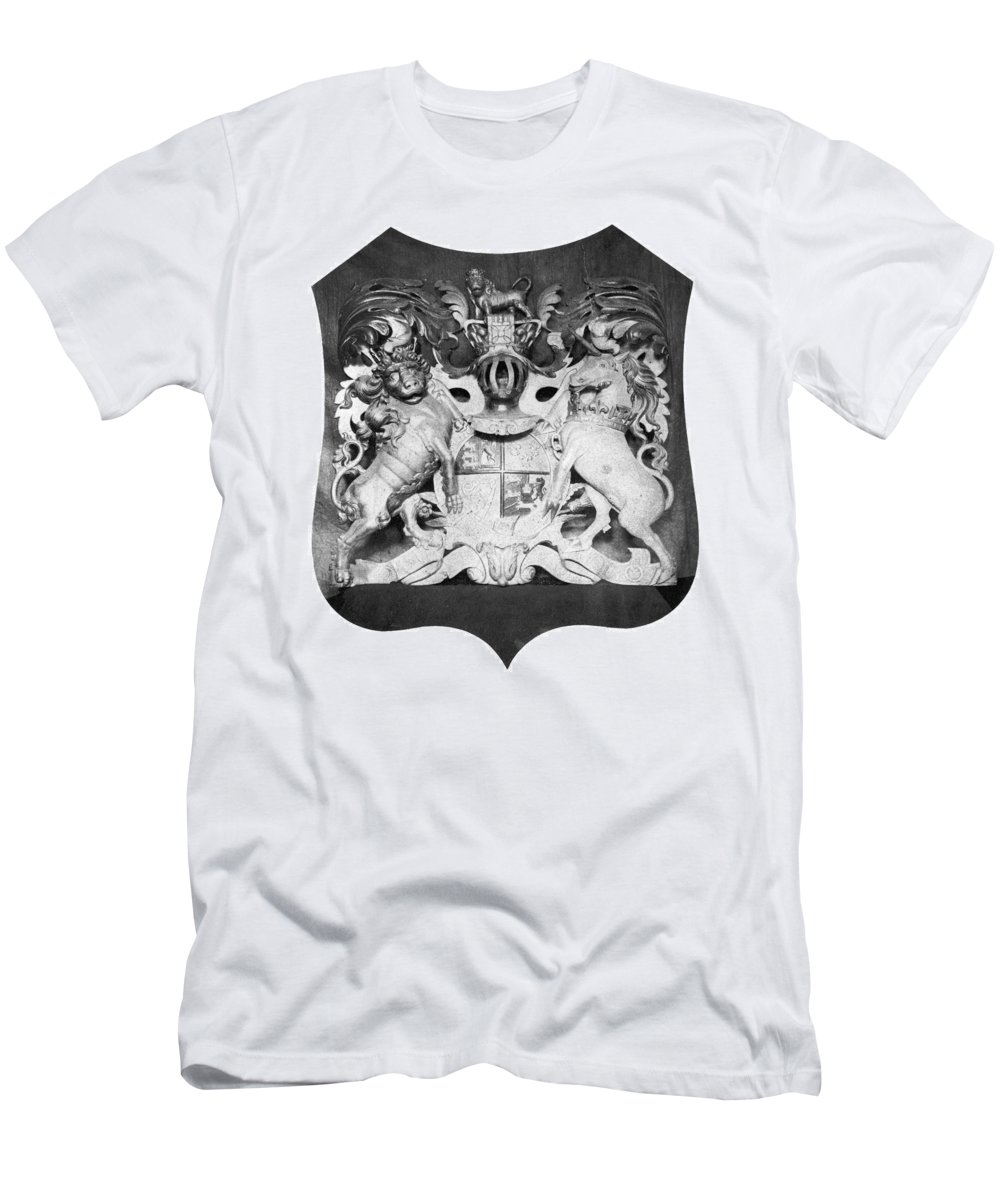 1775 Men's T-Shirt (Athletic Fit) featuring the photograph George IIi: Coat Of Arms by Granger