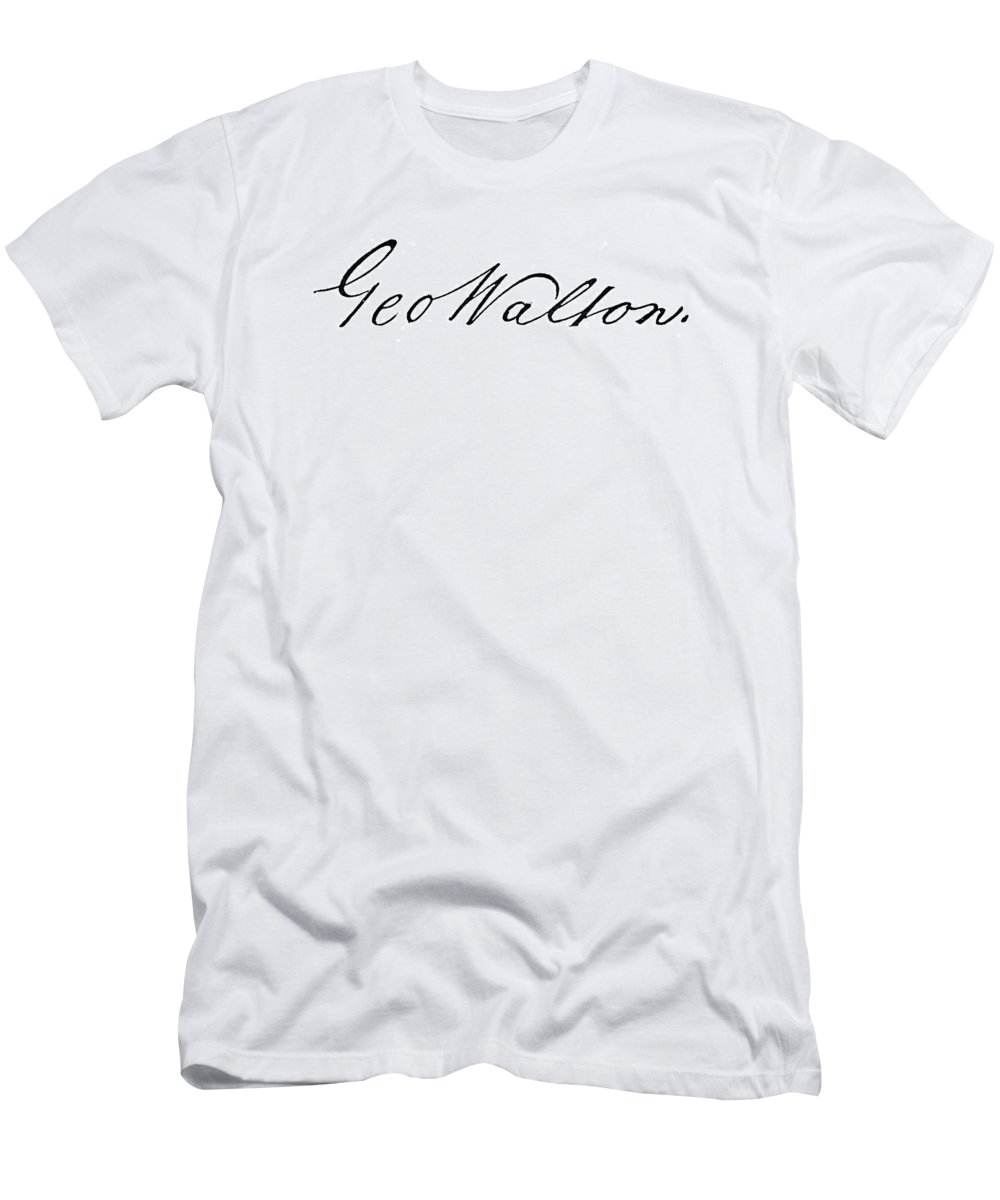 1776 Men's T-Shirt (Athletic Fit) featuring the photograph George Walton (1741-1804) by Granger