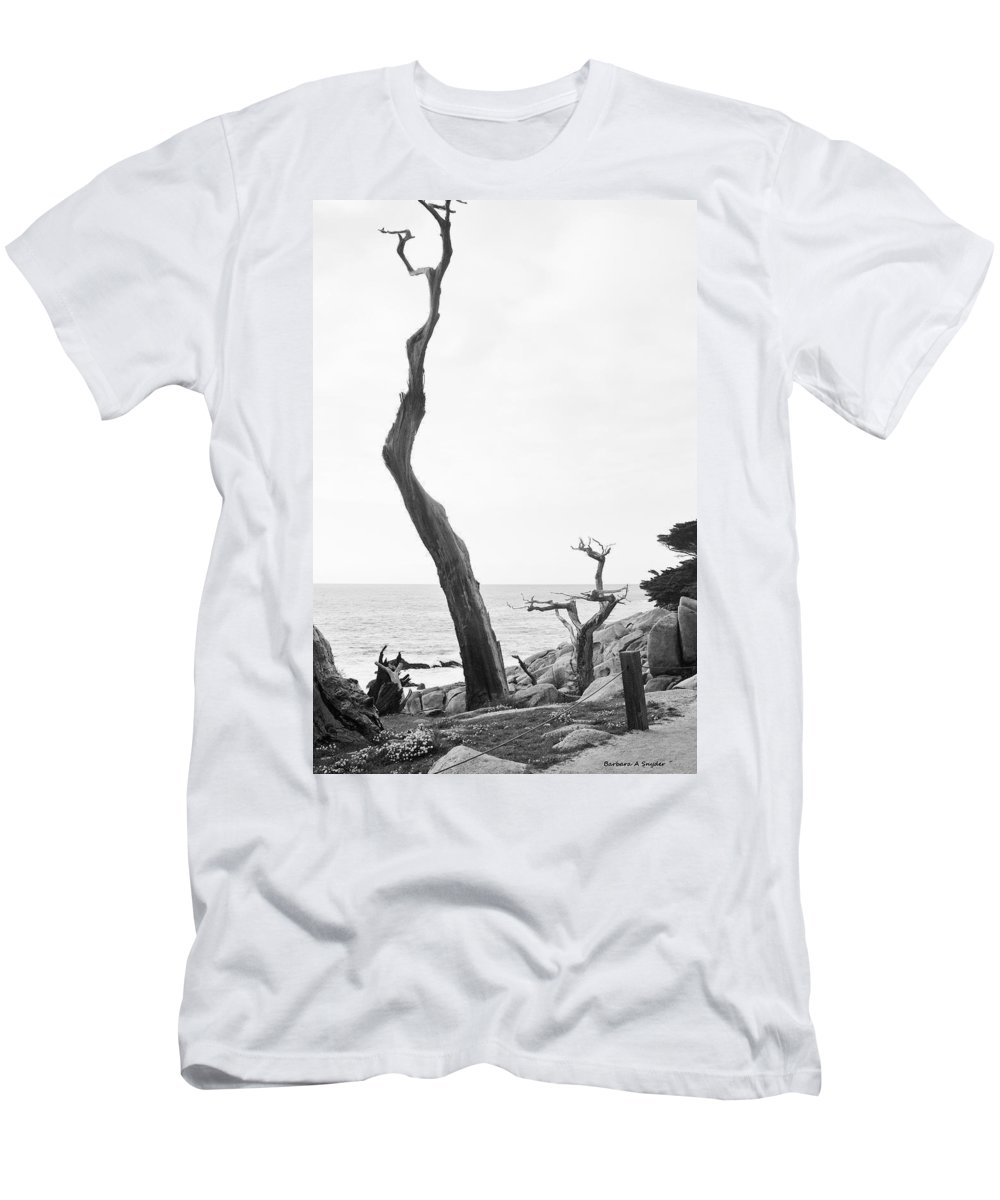 Ghost Tree Site Men's T-Shirt (Athletic Fit) featuring the digital art Ghost Tree Site by Barbara Snyder