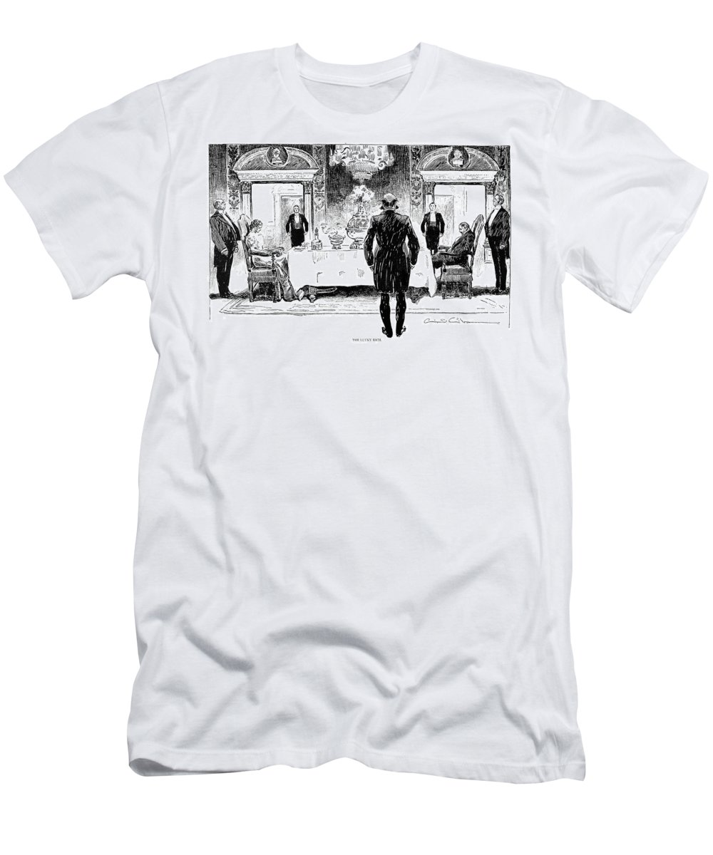 1896 Men's T-Shirt (Athletic Fit) featuring the photograph Gibson: Lucky Rich, 1896 by Granger