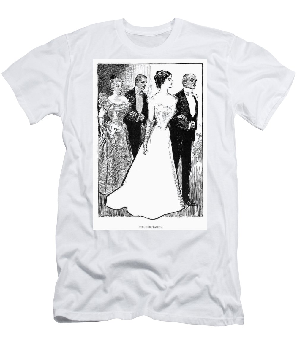1899 Men's T-Shirt (Athletic Fit) featuring the photograph Gibson: The Debutante, 1899 by Granger