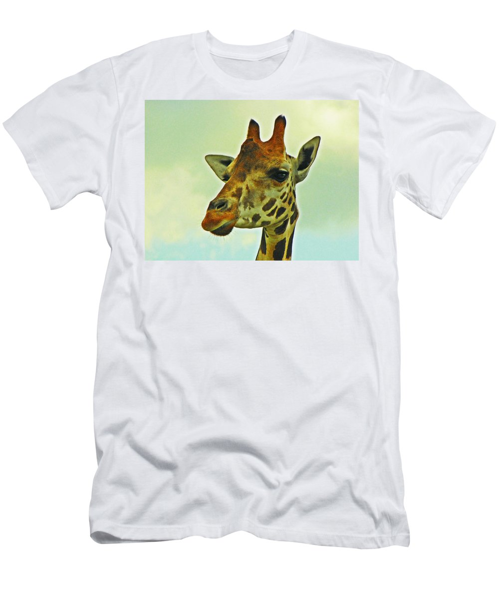 Giraffe Men's T-Shirt (Athletic Fit) featuring the photograph Giraffe by MTBobbins Photography