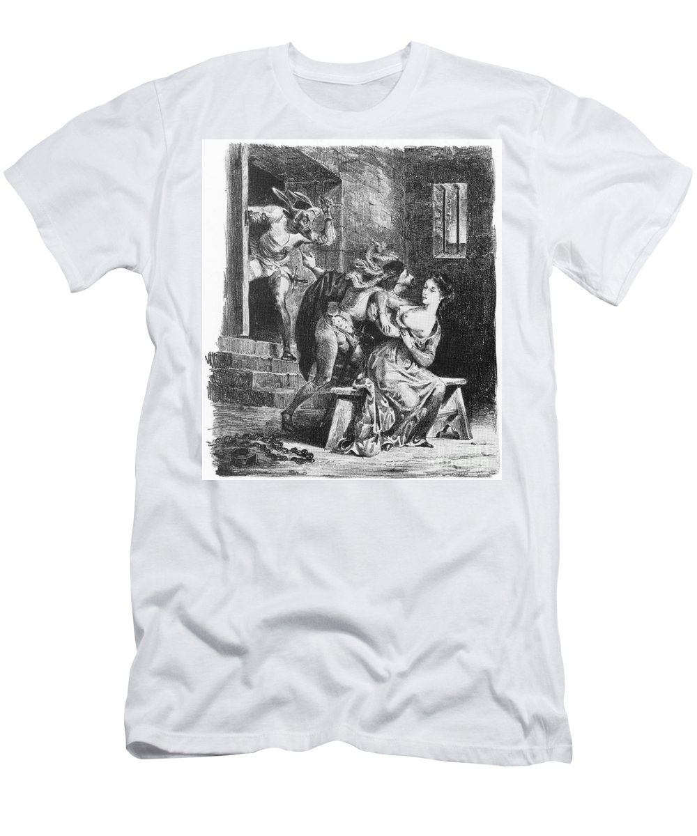 19th Century Men's T-Shirt (Athletic Fit) featuring the photograph Goethe: Doctor Faust by Granger