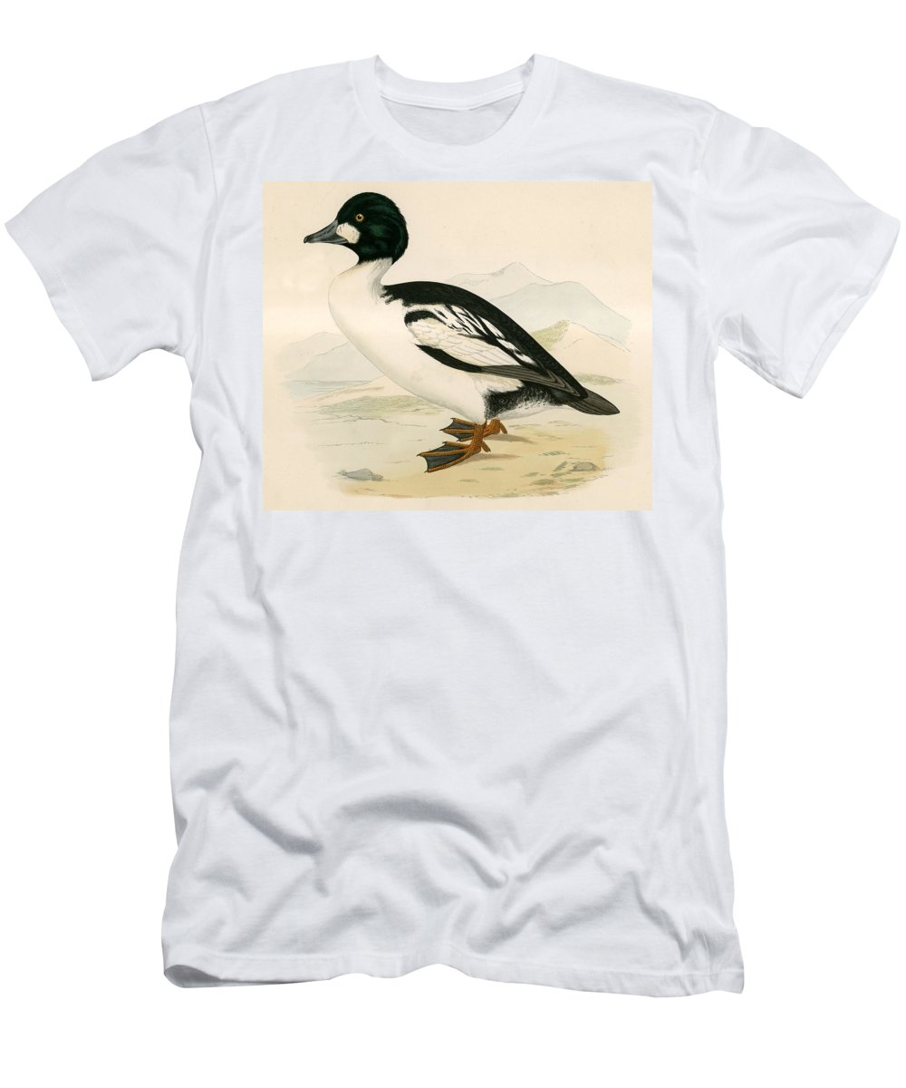 Birds Men's T-Shirt (Athletic Fit) featuring the photograph Golden Eye by Beverley R. Morris