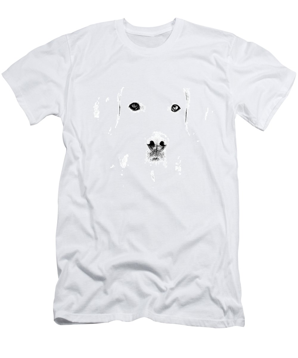 Dog Men's T-Shirt (Athletic Fit) featuring the photograph Dog Face by Mike Santis