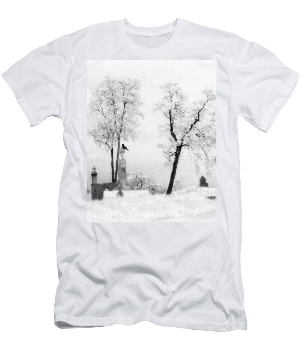 White Men's T-Shirt (Athletic Fit) featuring the photograph Gothic Lullaby by Gothicrow Images